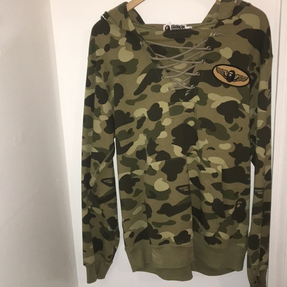 3ad8e384be7e Bape Other - CAMO LACE UP BAPE HOODIE IN XL!!! ONLY WORN ONCE